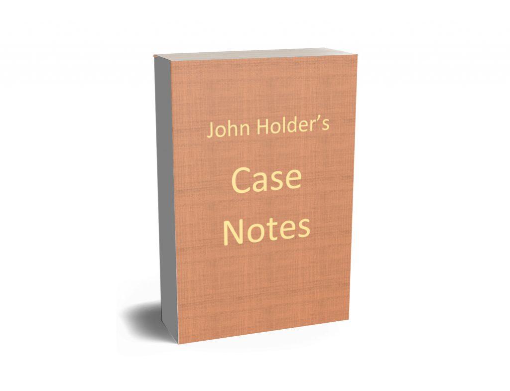 John Holder's Casebook